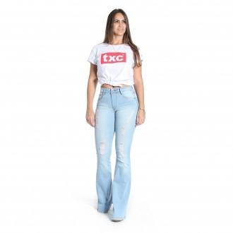 Calça Jeans TXC Feminina FLARE XF LIGHT