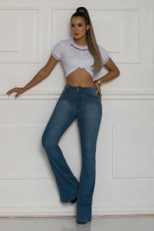Calça Jeans TXC Feminina FLARE XF MID