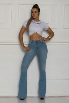 Calça Jeans TXC Feminina FLARE XF SOFT