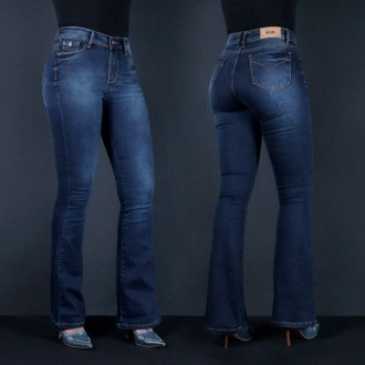 Calça Jeans TXC Feminina GARCEZ BLUE FLARE
