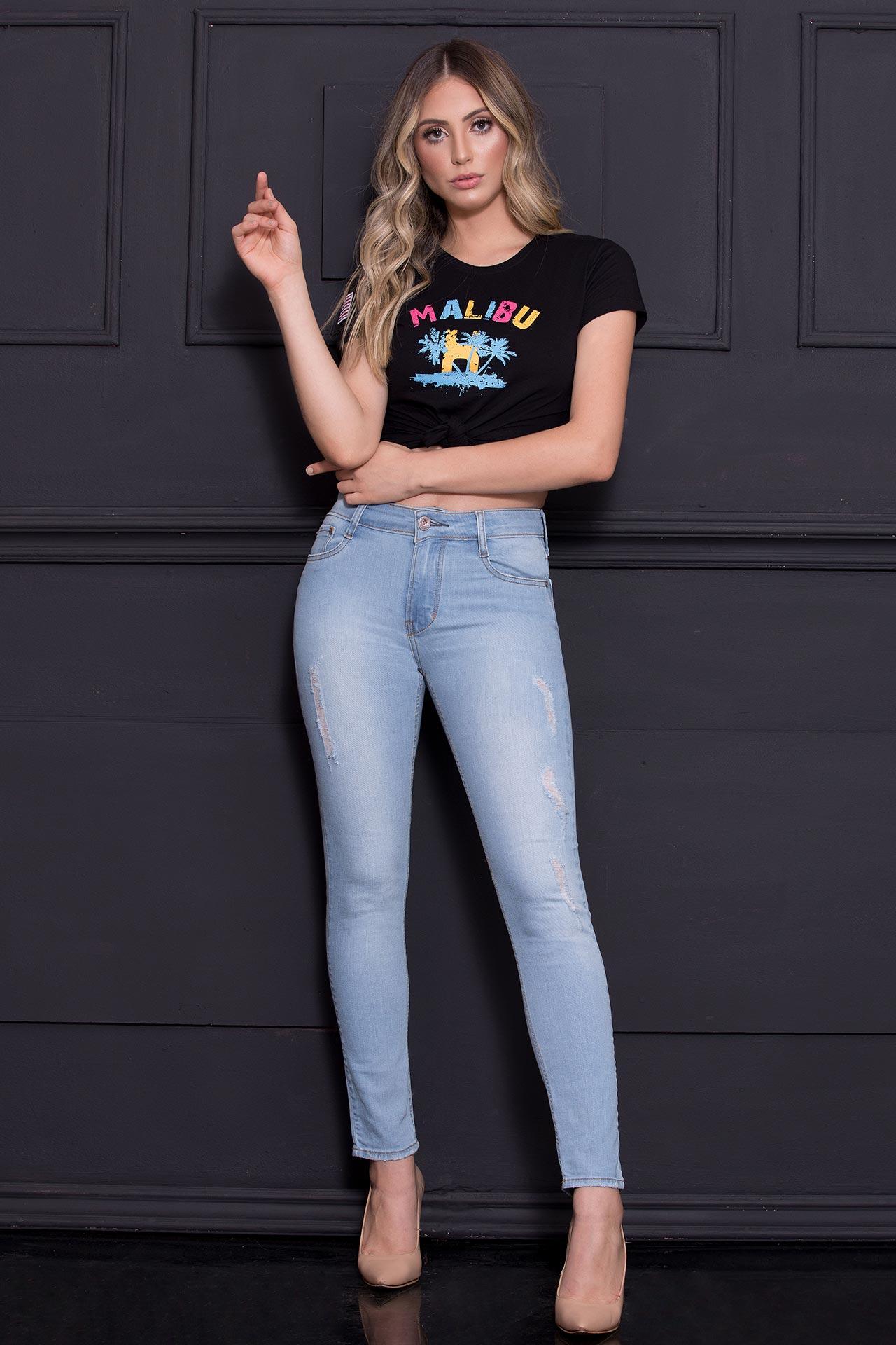 Calça Jeans TXC Feminina SKINNY XF LIGHT