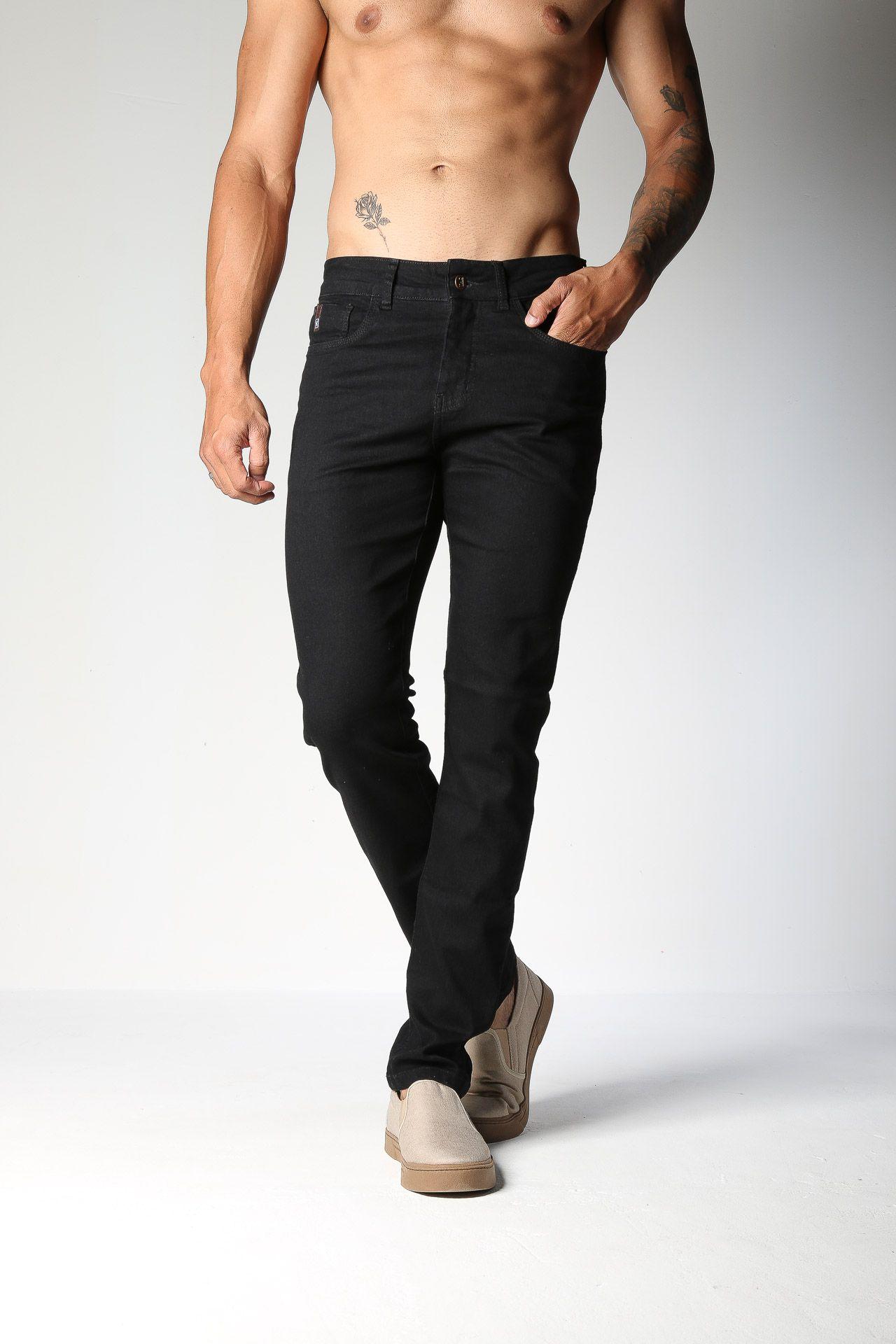 Calça Jeans TXC Masculina REGULAR PRETO 3% ELASTANO