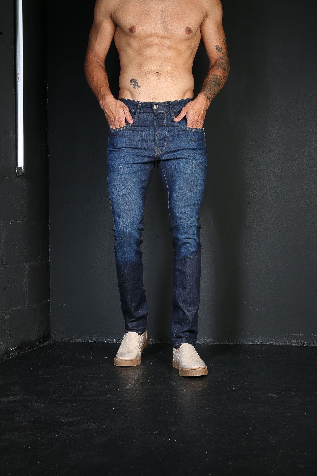 Calça Jeans TXC Masculina XS DENIM SLIM BLACK