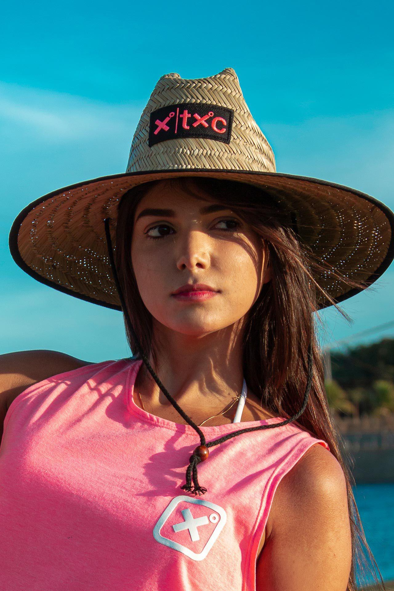 Chapéu de Palha TXC HAT X-BEACH ROSA