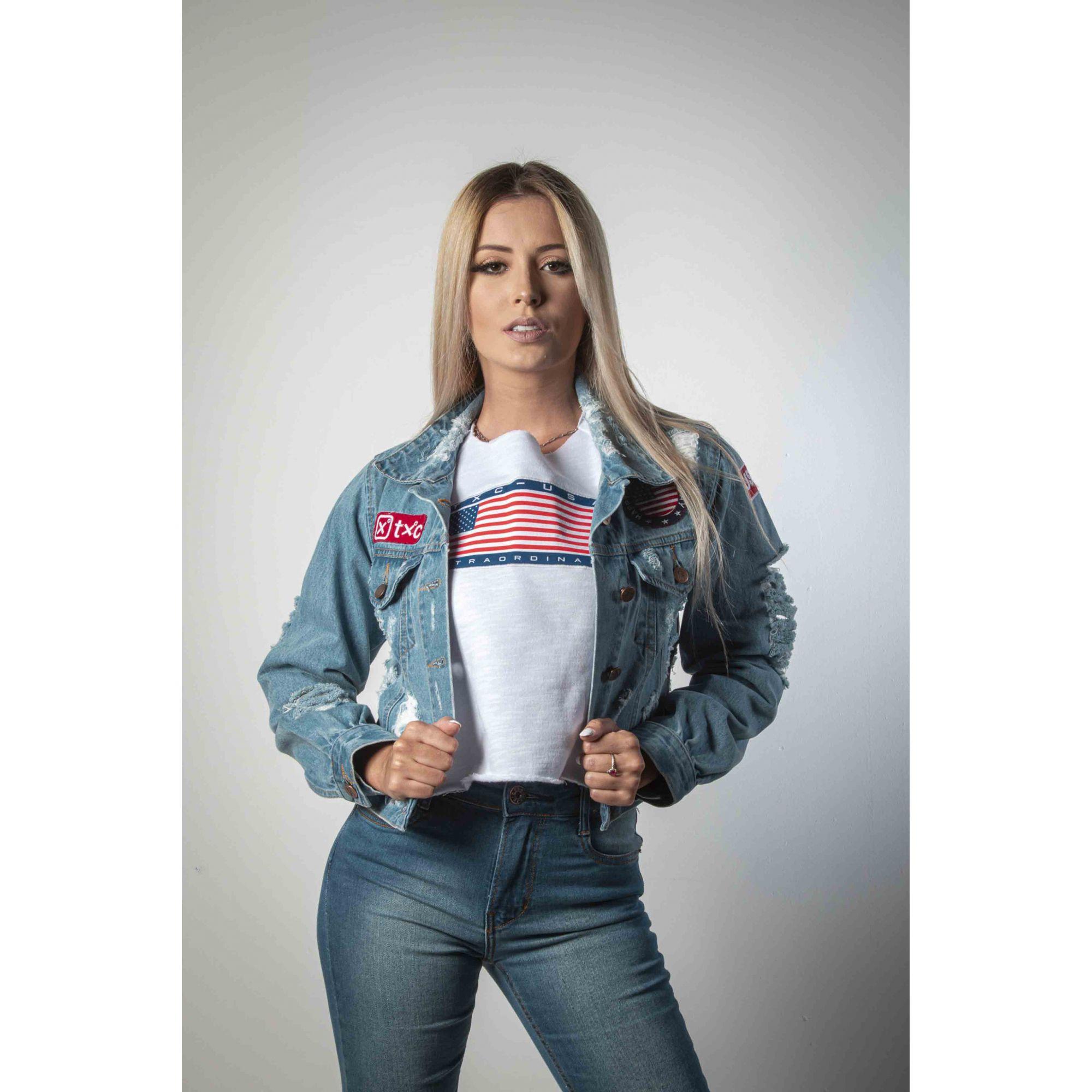 Jaqueta Jeans Feminina TXC 7070