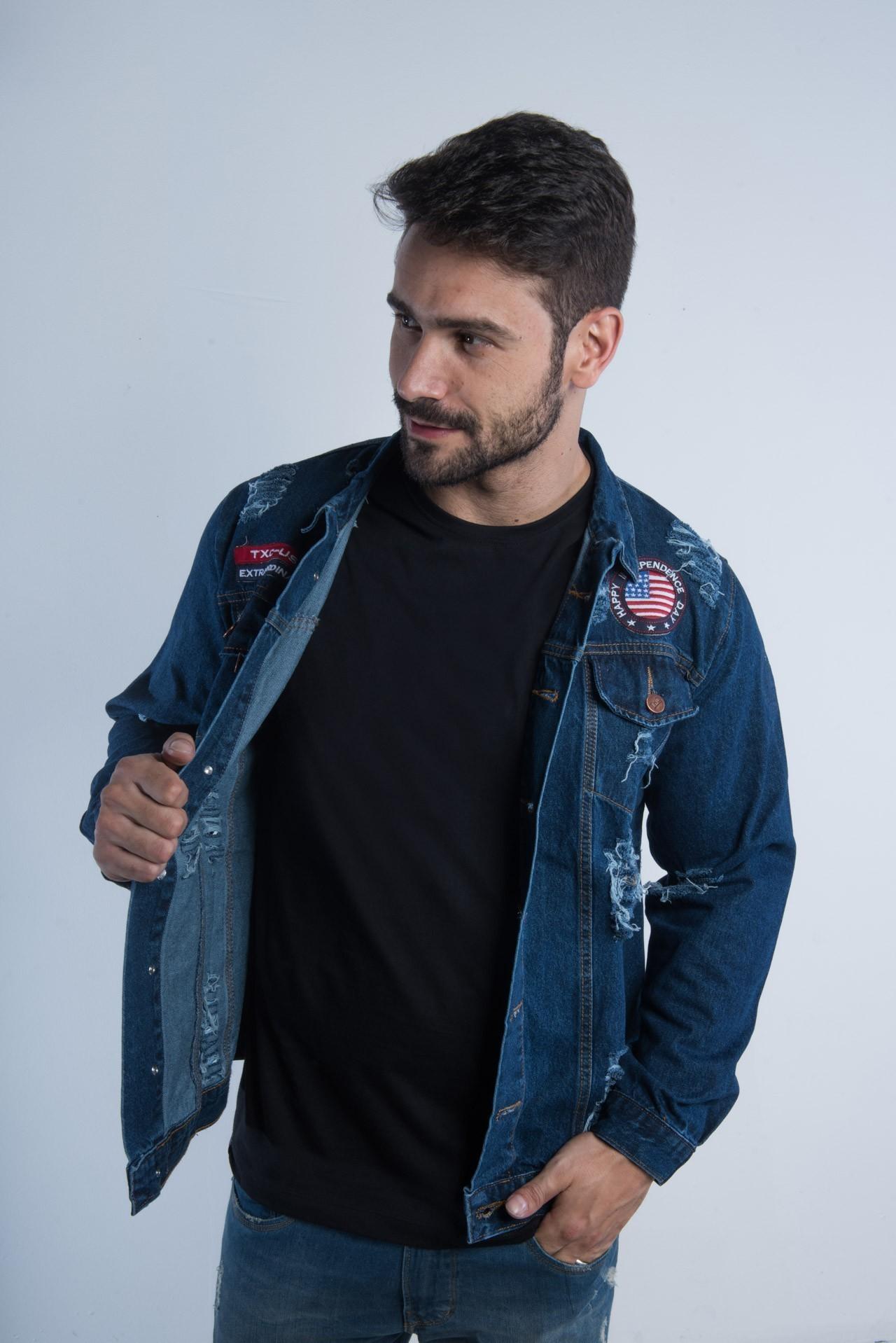 Jaqueta Jeans Masculina TXC 7078
