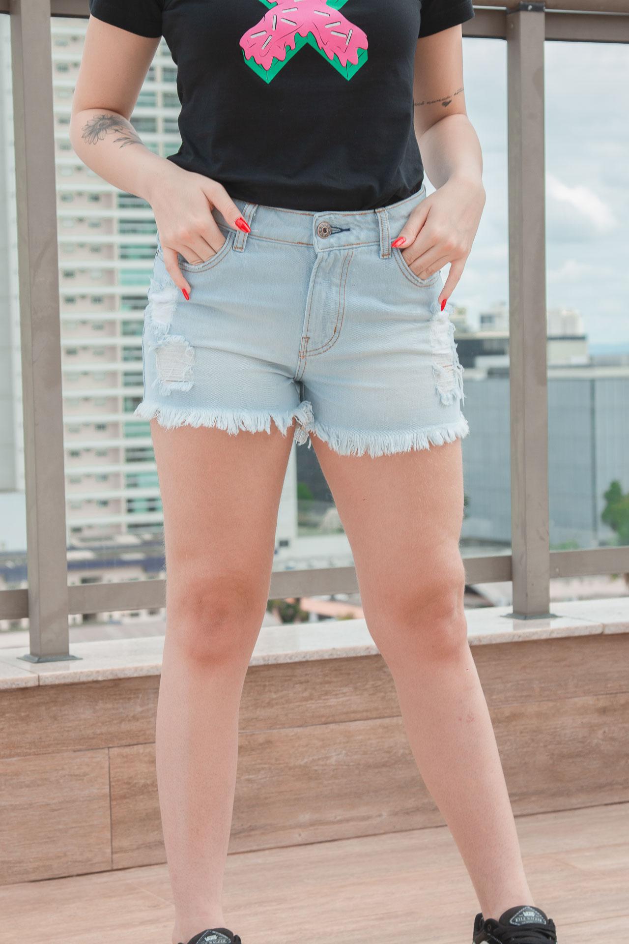 Short Feminino TXC XF Jeans Light