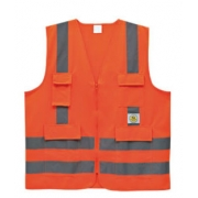 Colete de Proteção Laranja Fluorescente  Super Safety