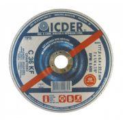 Disco de Desbaste 7'' x 1/4'' x 7/8'' Graniteiro – C36KF – ICDER