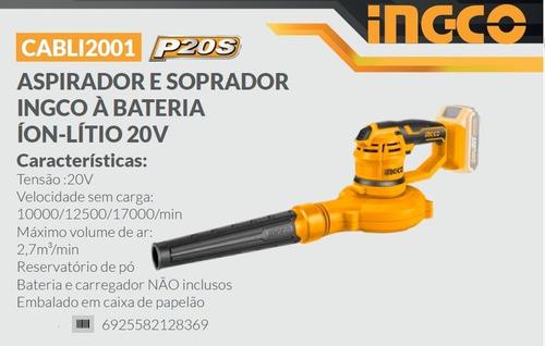 Aspirador e Soprador à Bateria 20v - Ingco