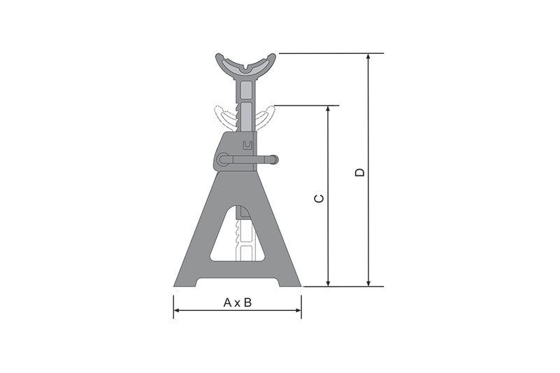 Cavalete Mecânico CT3000 – 3T – Bovenau