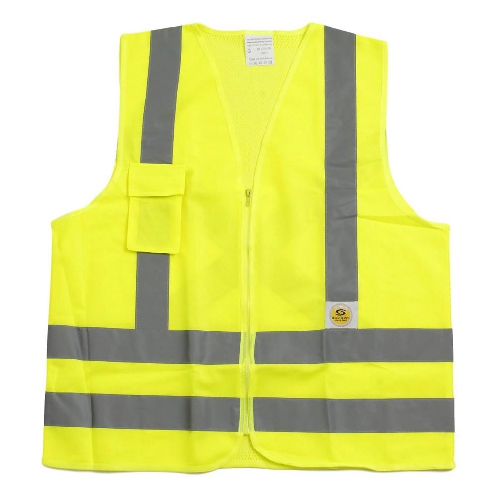 Colete de Proteção Amarelo Fluorescente - Super Safety
