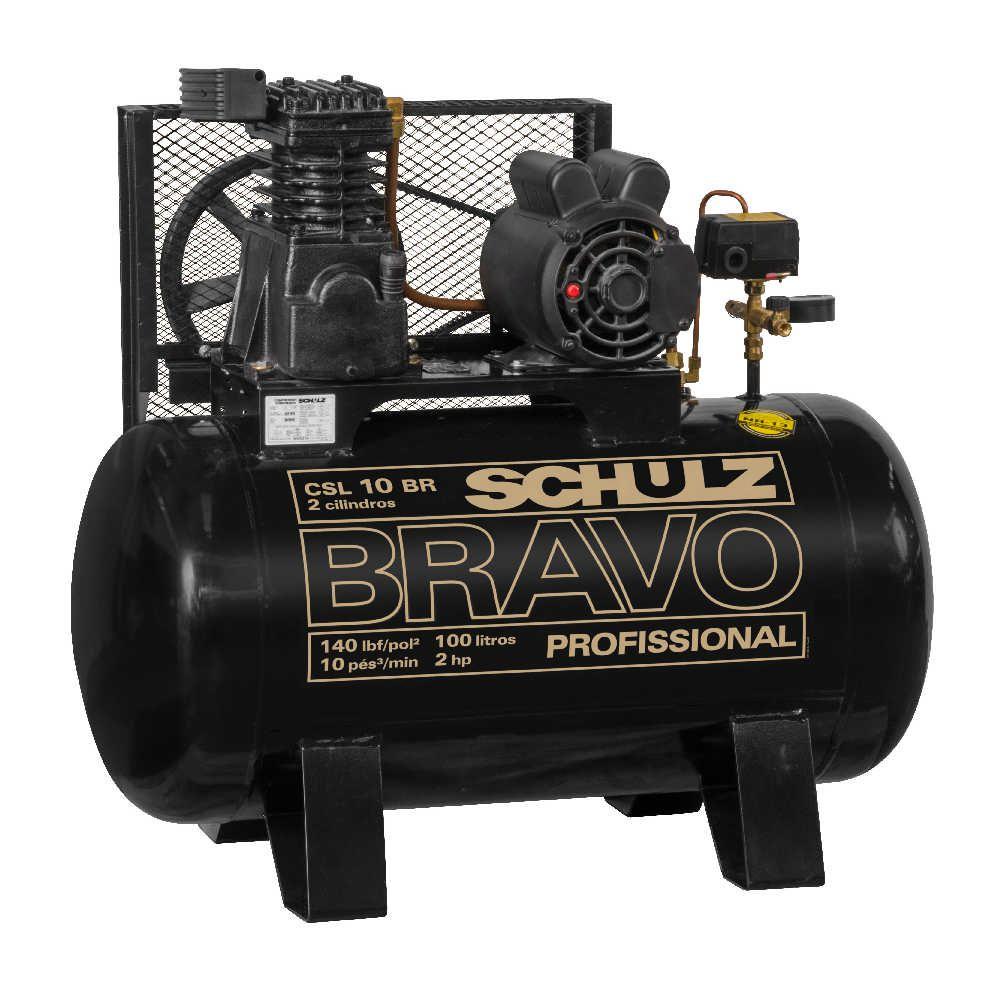 Compressor de Ar (Pistão) Bravo  CSL 10BR/100