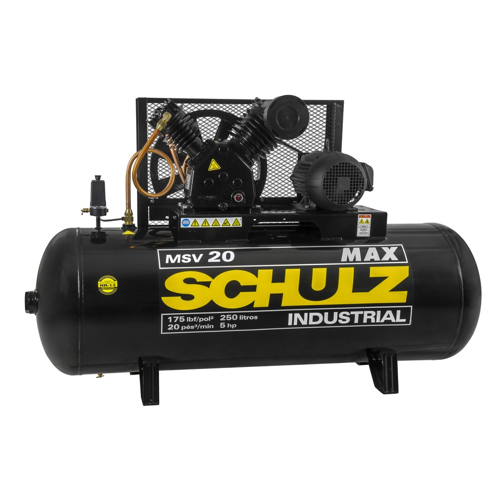 Compressor de Pistão Max MSV 20/250 - Schulz