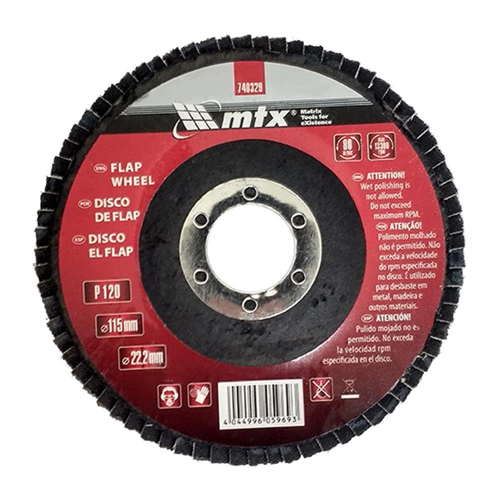 Disco de Desbaste tipo Flap 115 mm x 25 mm – Mtx