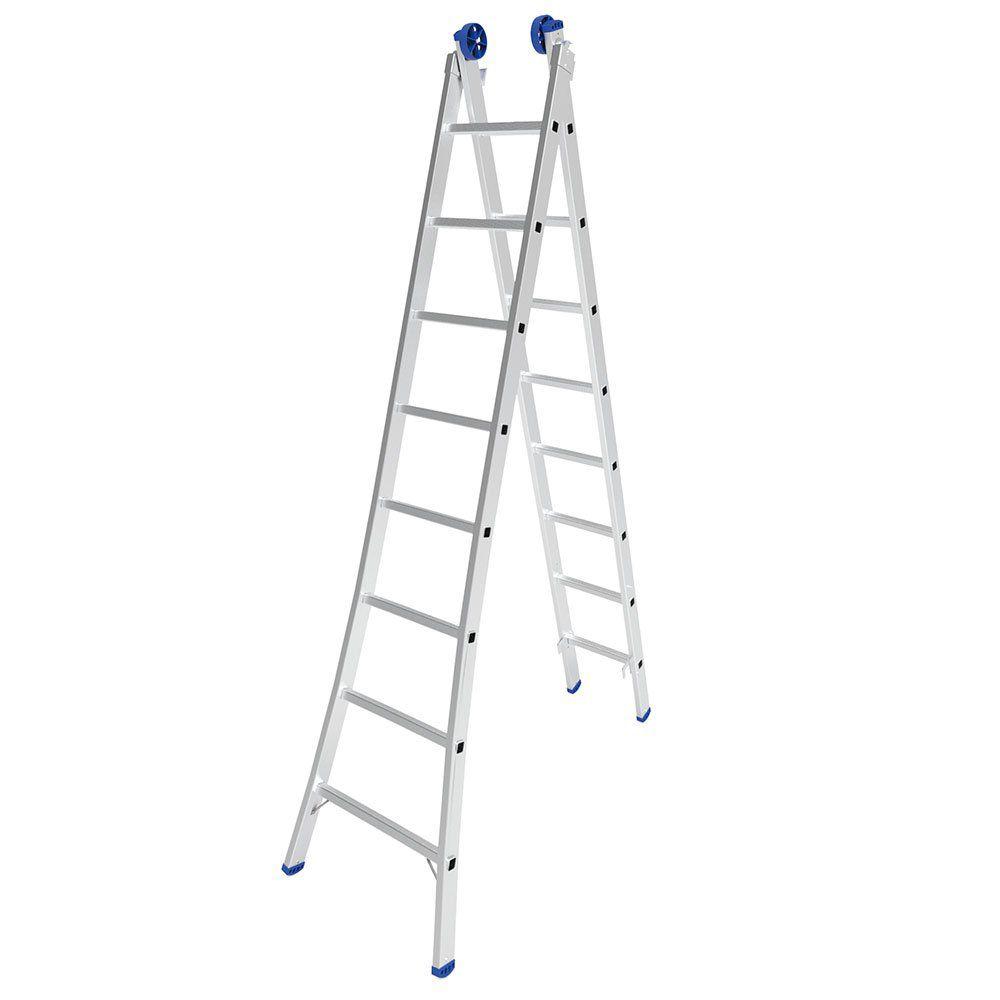 Escada de Alumínio Extensiva 2x8 – Mor