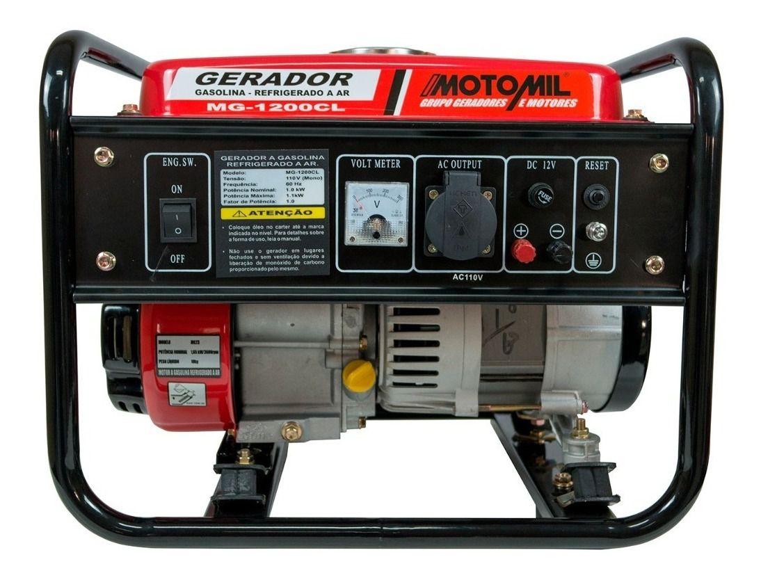 Gerador de Energia à Gasolina MG-1200CL – Motomil