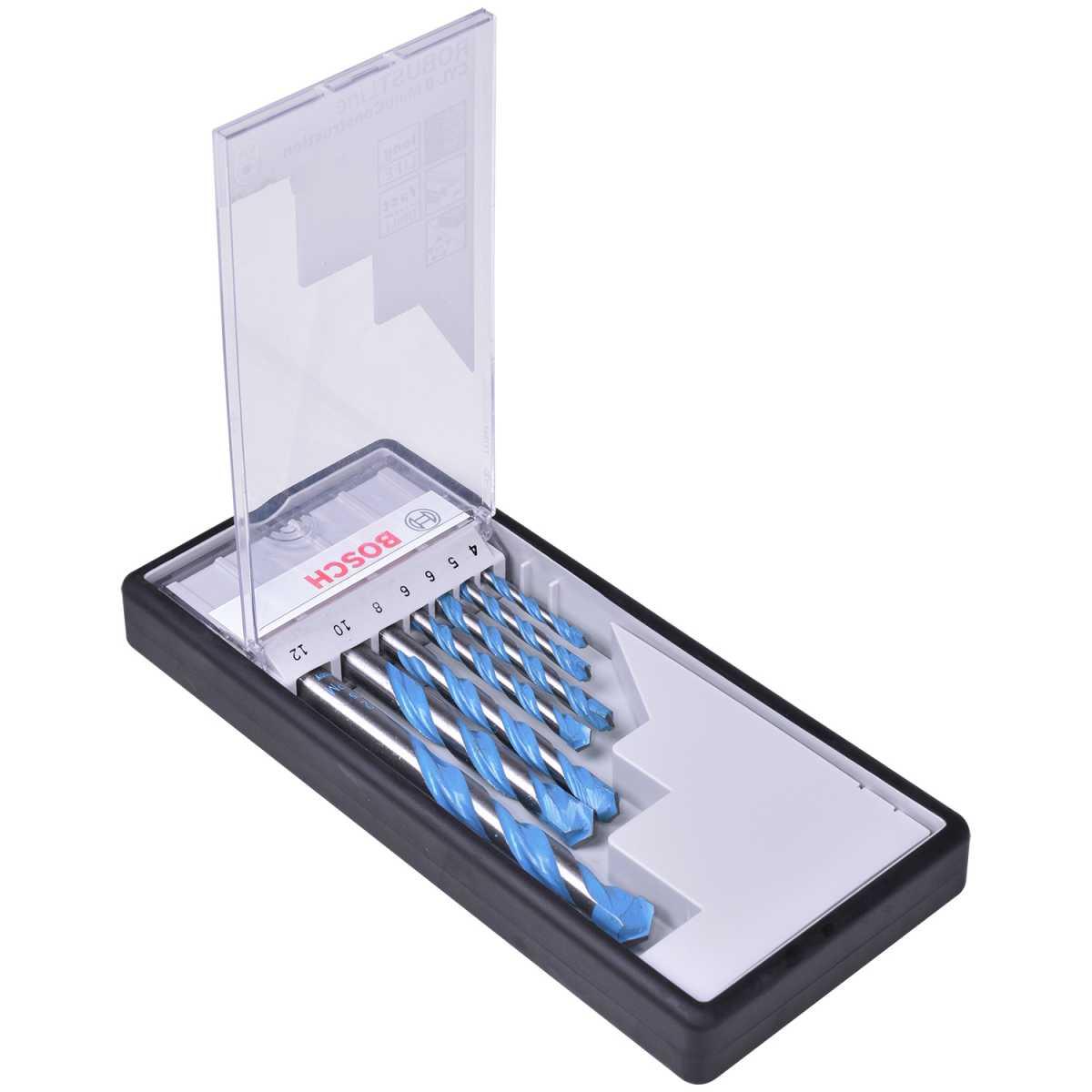 Jogo de Broca MultiConstruction 4 a 12mm 7 Peças - Bosch