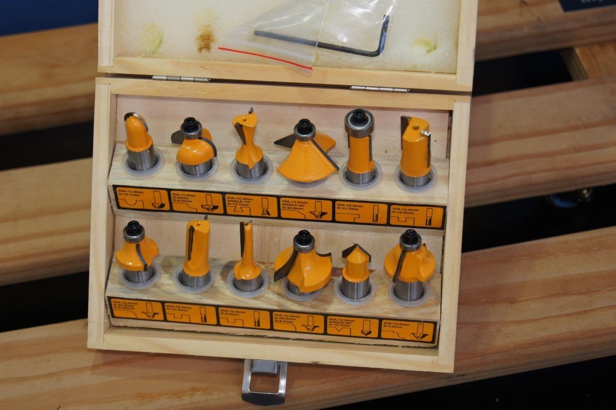 Jogo de Fresas para Tupia 6mm 12 peças - Ingco