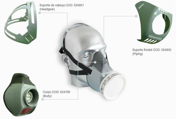 Máscara Semi-Facial Air San 420 A1 VO P2 – Air Safety