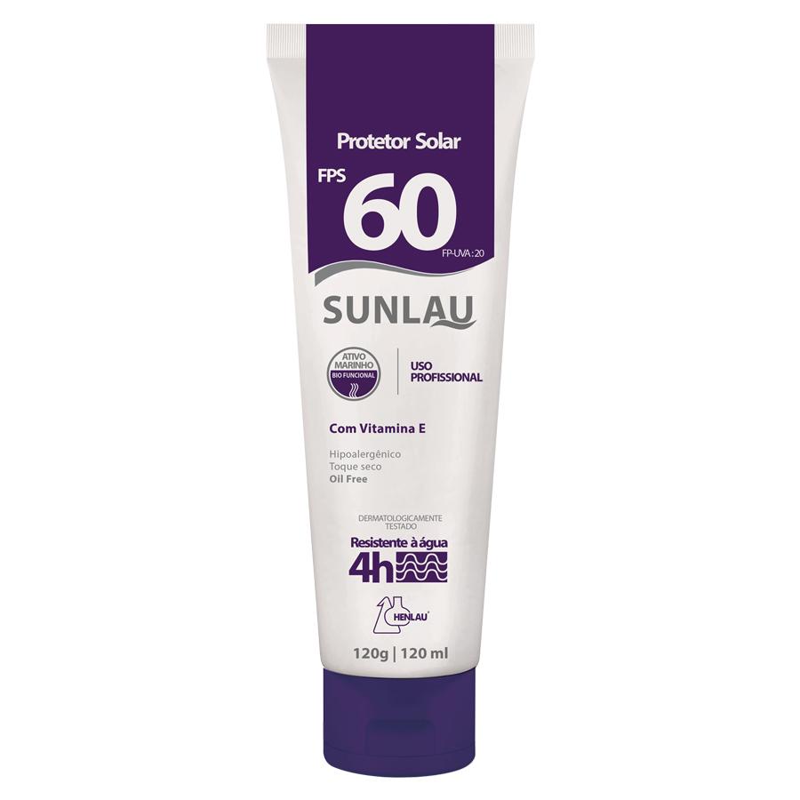 Protetor Solar FPS60 Sunlau 120gr - Henlau