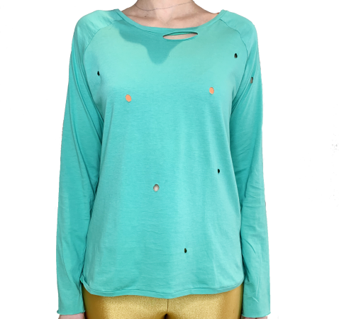 MARIA MARIA COLLECTION - BLUSA DESTROYED PIMA FORN:MM009