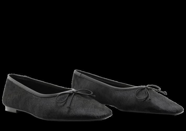 SCHUTZ - SAPATILHA BALLERINA VELUDO BLACK FORN: S2071000330050U