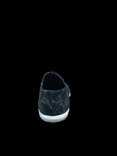 OSKLEN - TÊNIS VIDIGAL SLIP ON HELICONIA BLACK FORN:55592