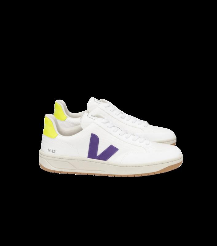 VERT - V-12 B-MESH WHITE PURPLE JAUNE-FLUO REF. ND012491A