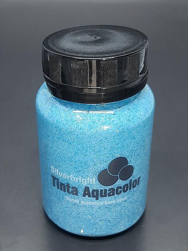 Stencil Past Glitter Azul Ondas do Mar