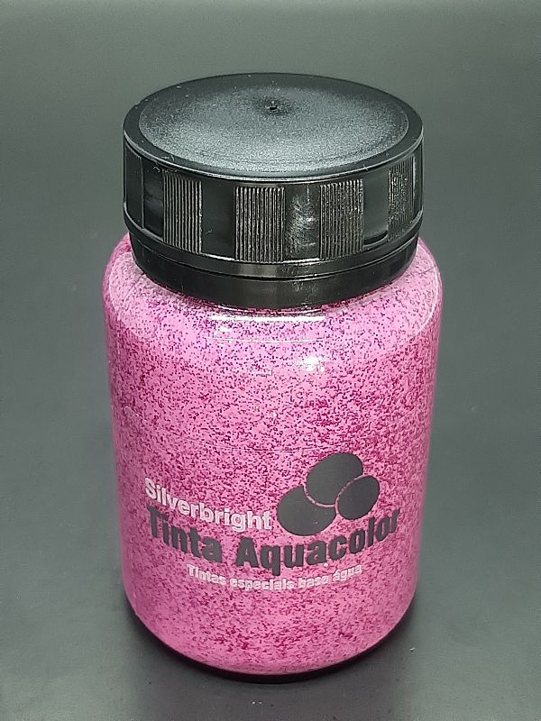 Stencil Past Glitter Pink