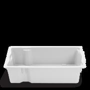 Caixa Plástica Bolivar Entrega Leite Branca 64