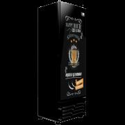 Cervejeira 454 litros Porta Cega Preta Adesivada Imbera CCV315 Linha Happy Hour