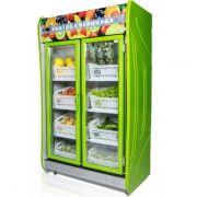 Expositor Vertical Refrigerado Auto Serviço 2 Portas para Frutas e Verduras 1,25m POLAR