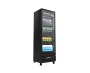 Refrigerador Vertical 454 litros Porta de Vidro Imbera Preto VRS16 Linha Stylus