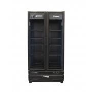 Refrigerador Vertical 754 litros 2 Portas de Vidro Imbera Preto G326 D Linha Stylus Negro