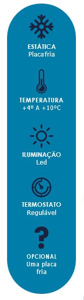 Balcão Refrigerado Inox Vidro Curvo 2,00m Polar 2 PLACAS