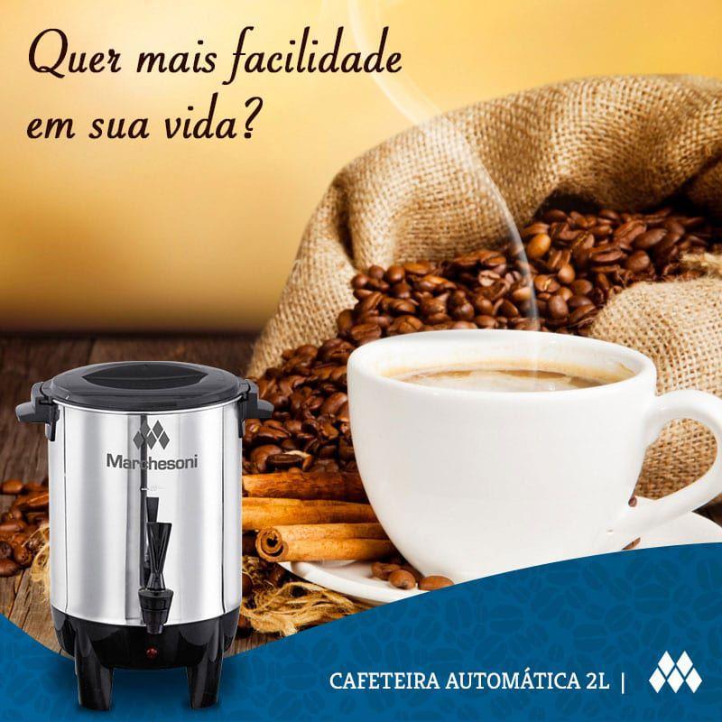 Cafeteira Automática Marchesoni 2 Litros Inox CF 1201/202