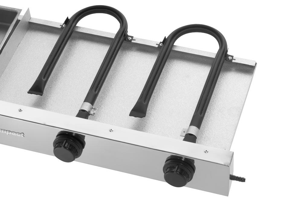Chapa a Gás Compact 80x50 cm Bifeteira Profissional GLP-80