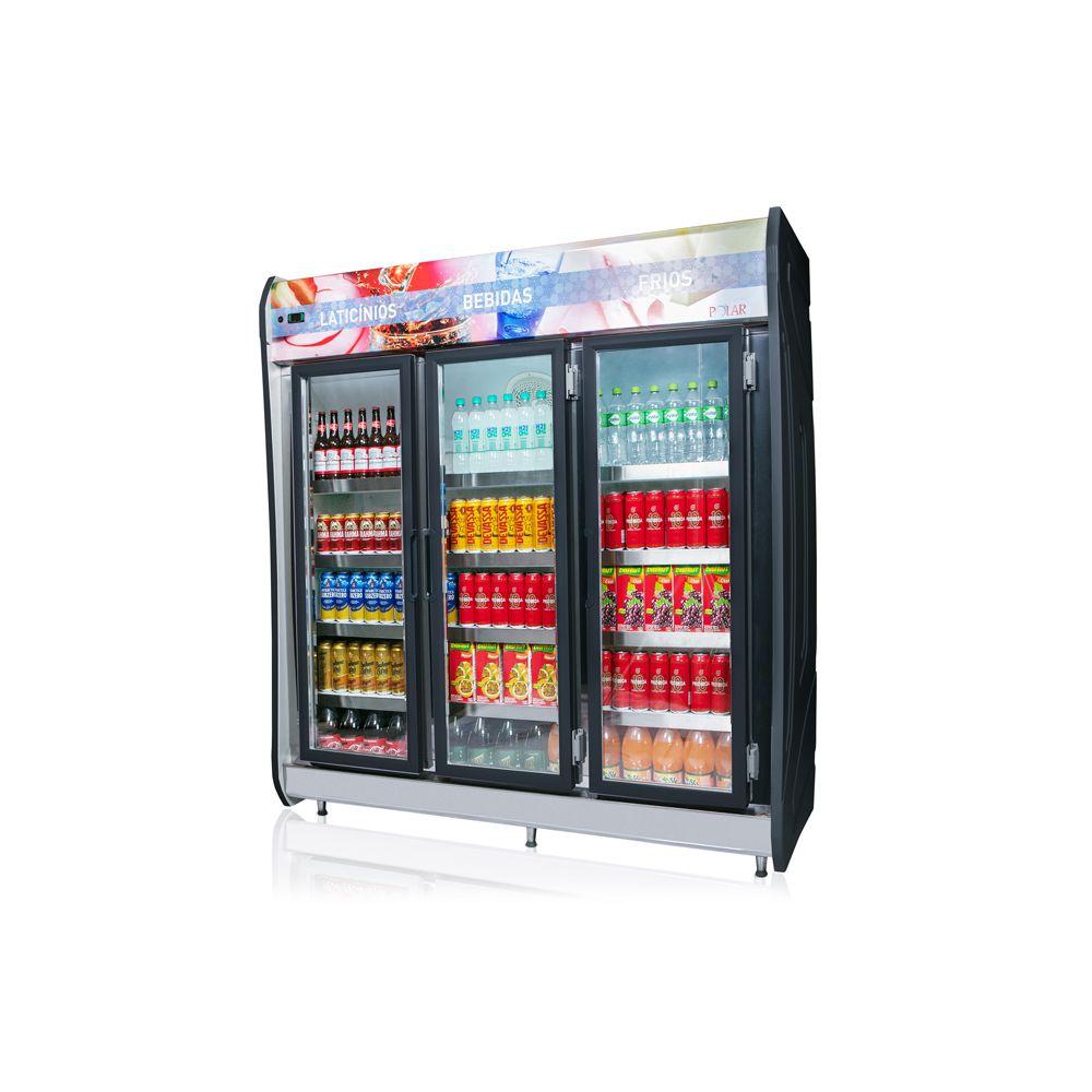 Expositor Vertical Refrigerado Auto Serviço 3 portas 1,90m POLAR
