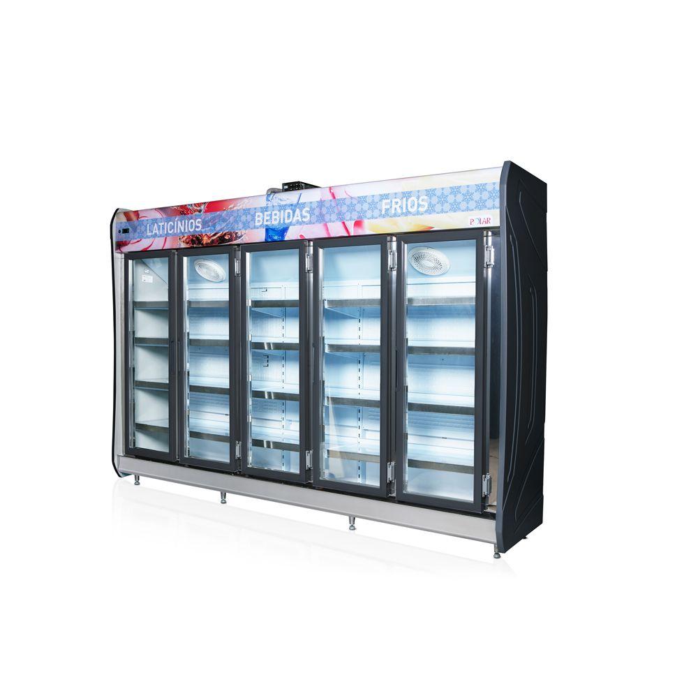 Expositor Vertical Refrigerado Auto Serviço 5 portas 3,05m POLAR