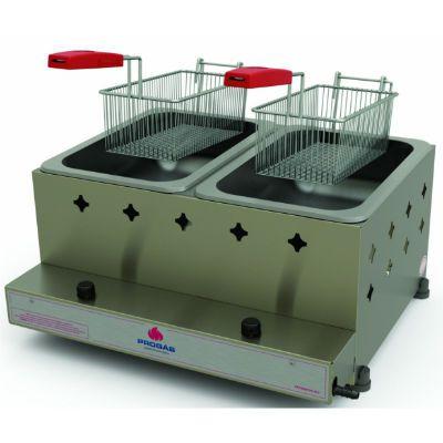 Fritador a Gás Progás 10 Litros 2 Cestos Alta Pressão PR20G