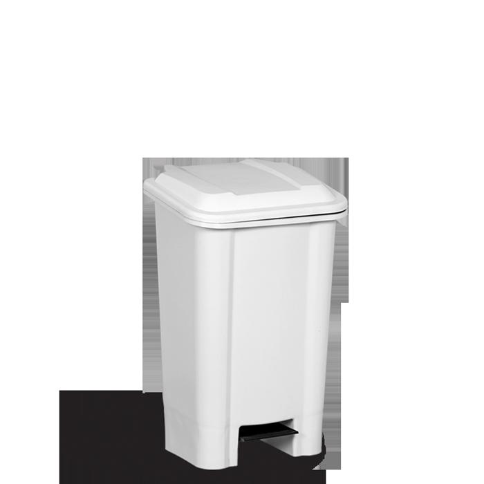 Lixeira Plástica Bolivar 50 litros Branca Retangular com Pedal 362