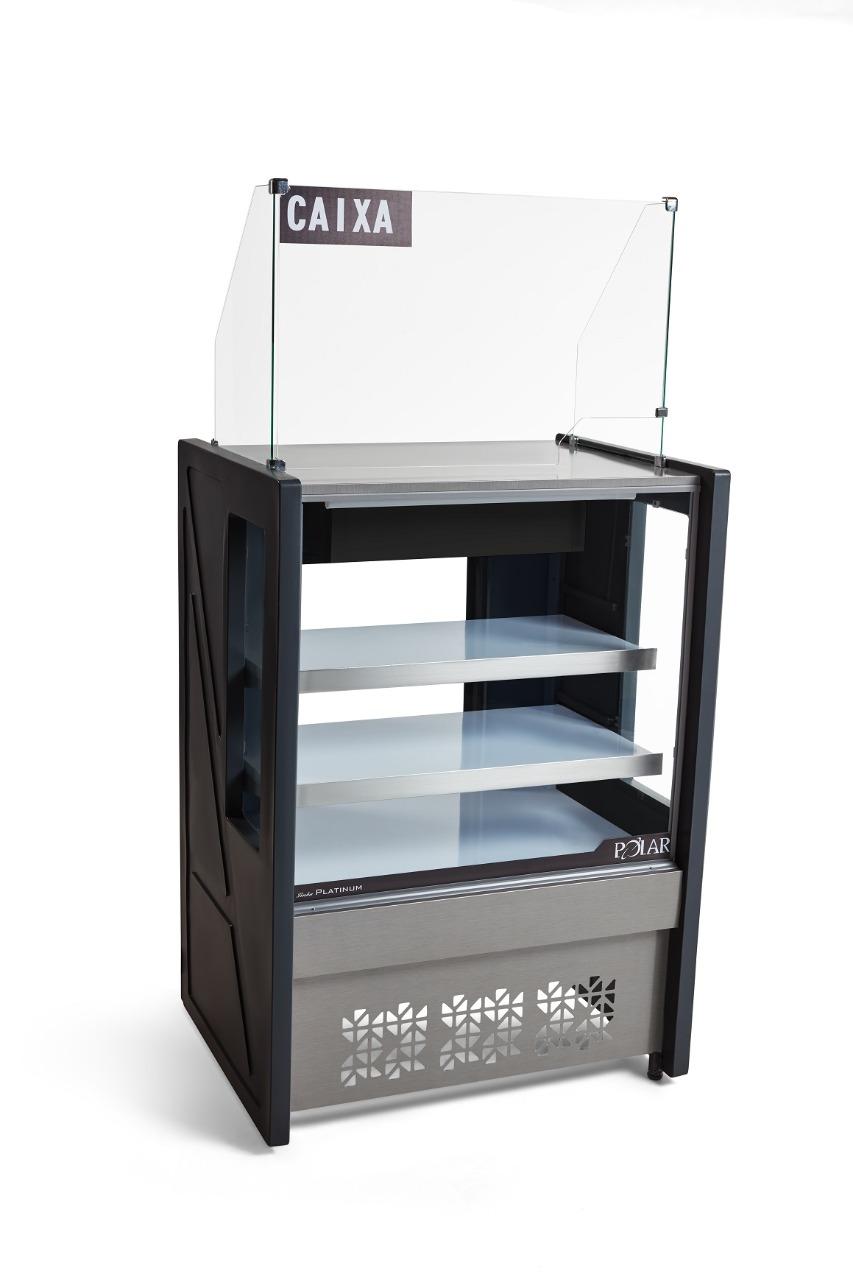 Vitrine Natural Caixa 80 cm Linha Platinum Polar PVCN 080