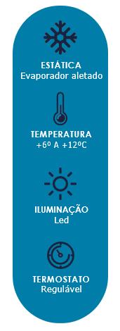 Vitrine Refrigerada para Tortas Vidro Curvo 0,80m Polar
