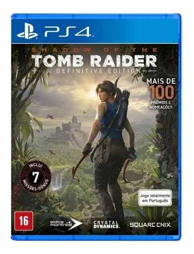 Jogo Shadow Of The Tomb Raider A Definitive Edition - PS4