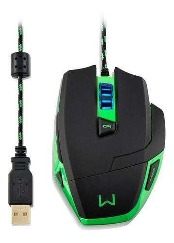 Mouse Gamer Multilaser Warrior 3200dpi Mo245 Com Mousepad