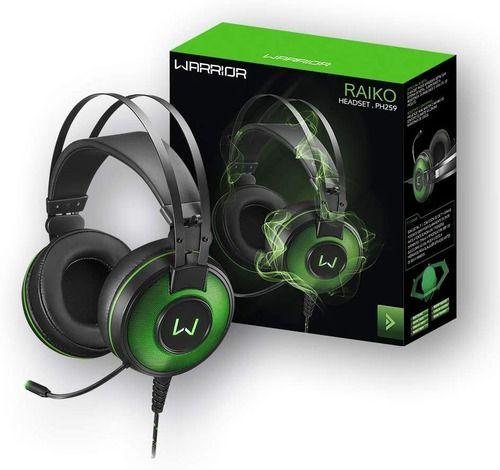 - Fone Headset Raiko Som 7.1 3d Realista Com Led Verde - Ph259 Anúncio com variação
