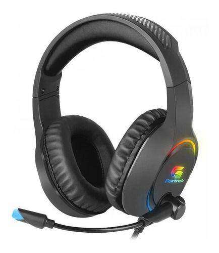 Headset Gamer Rgb Holt Preto Fortrek Com Adaptador P3