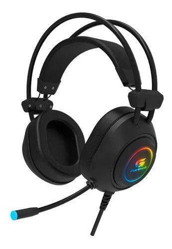 Headset Gamer Crusader Rgb Fortrek Preto Com Adaptador P3
